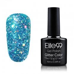 Elite99 Glitter gelinis lakas 10ml (GC009) Bluish Green