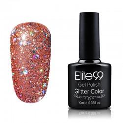 Elite99 Glitter gelinis lakas 10ml (GC011) Faded Rose