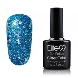 Elite99 Glitter gelinis lakas 10ml (GC012) Teal
