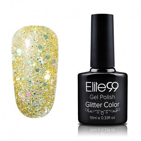 Elite99 Glitter gelinis lakas 10ml (GC013) Gold