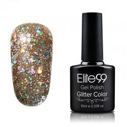 Elite99 Glitter gelinis lakas 10ml (GC014) Taupe Brown