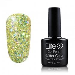 Elite99 Glitter gelinis lakas 10ml (GC016) Lemon Yellow