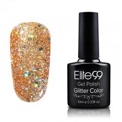 Elite99 Glitter gelinis lakas 10ml (GC017) Orange