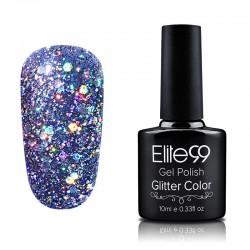 Elite99 Glitter gelinis lakas 10ml (GC018) Steel Grey