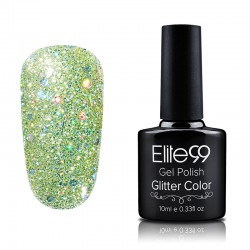Elite99 Glitter gelinis lakas 10ml (GC019) Yellow Green
