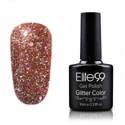 Elite99 Glitter gelinis lakas 10ml (GC020) Saffron Yellow