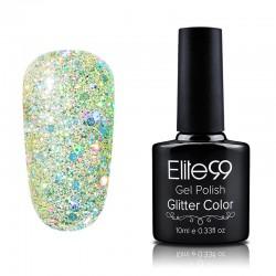 Elite99 Glitter gelinis lakas 10ml (GC021) Beige