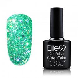 Elite99 Glitter gelinis lakas 10ml (GC022) Lawngreen