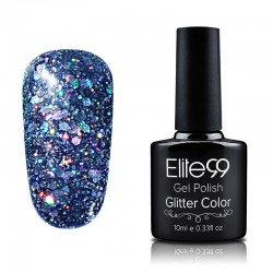 Elite99 Glitter gelinis lakas 10ml (GC023) Grey