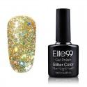 Elite99 Glitter gelinis lakas 10ml (GC025) Russet Orange