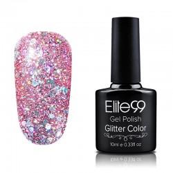 Elite99 Glitter gelinis lakas 10ml (GC026) Dusty Cedar