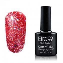 Elite99 Glitter gelinis lakas 10ml (GC027) Tomato Red