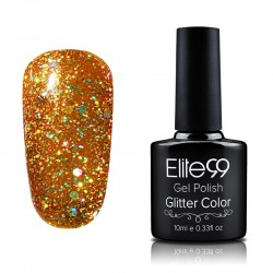 Elite99 Glitter gelinis lakas 10ml (GC030) Brown