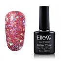 Elite99 Glitter gelinis lakas 10ml (GC031) Fiery Red