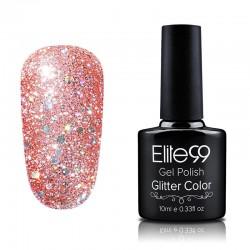 Elite99 Glitter gelinis lakas 10ml (GC034) Dark Salmon