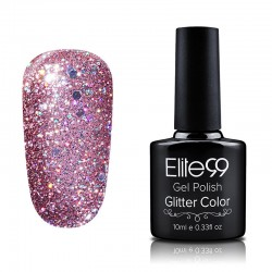 Elite99 Glitter gelinis lakas 10ml (GC035) Fuchsia Rose
