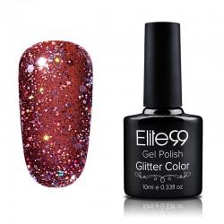 Elite99 Glitter gelinis lakas 10ml (GC037) Sienna