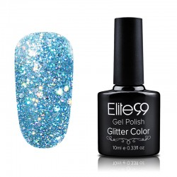 Elite99 Glitter gelinis lakas 10ml (GC038) Cyan
