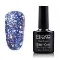 Elite99 Glitter gelinis lakas 10ml (GC039) Bluish Violet