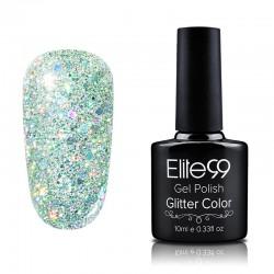 Elite99 Glitter gelinis lakas 10ml (GC042) Soft Green