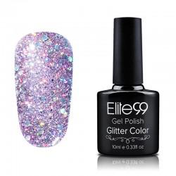Elite99 Glitter gelinis lakas 10ml (GC043) Plum
