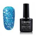 Elite99 Glitter gelinis lakas 10ml (GC044) Teal Green
