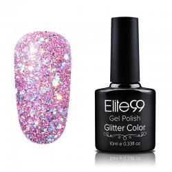 Elite99 Glitter gelinis lakas 10ml (GC045) Violet