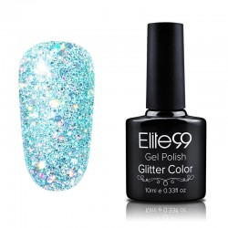 Elite99 Glitter gelinis lakas 10ml (GC046) Aquamarine