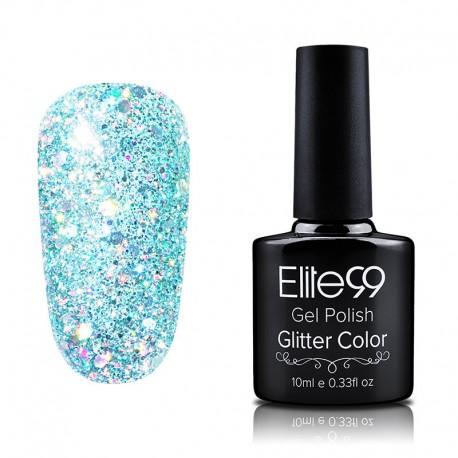 Elite99 Glitter gelinis lakas 10ml (GC046) Aquamarine