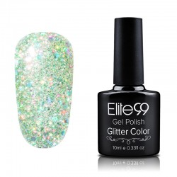 Elite99 Glitter gelinis lakas 10ml (GC047) Bright Yellow