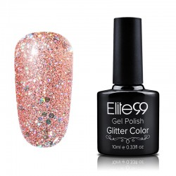 Elite99 Glitter gelinis lakas 10ml (GC049) Light Coral