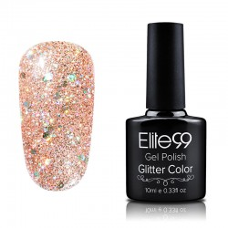 Elite99 Glitter gelinis lakas 10ml (GC050) Salmon