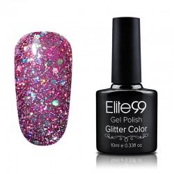 Elite99 Glitter gelinis lakas 10ml (GC052) Fuchsia