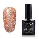Elite99 Glitter gelinis lakas 10ml (GC053) Khaki