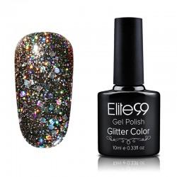 Elite99 Glitter gelinis lakas 10ml (GC054) Black Grey