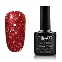 Elite99 Glitter gelinis lakas 10ml (GC055) Ruby Red